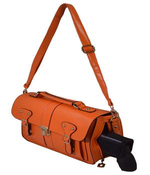 Orange Crossbody/Shoulder Concealed Carry Handbag with Custom Holster