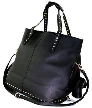 Black Bling Tote Concealed Carry Handbag with Custom Holster