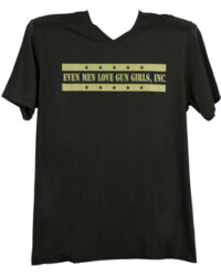 g_g_inc_mens_black_green_lettering_even_men_love_gun_girls_inc_v_neck_t_shirt