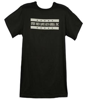 G.G. Inc. Black &#038; Silver <br>&#8220;Even Men Love <br> Gun Girls, Inc.&#8221; <br> Crew Neck Shirt